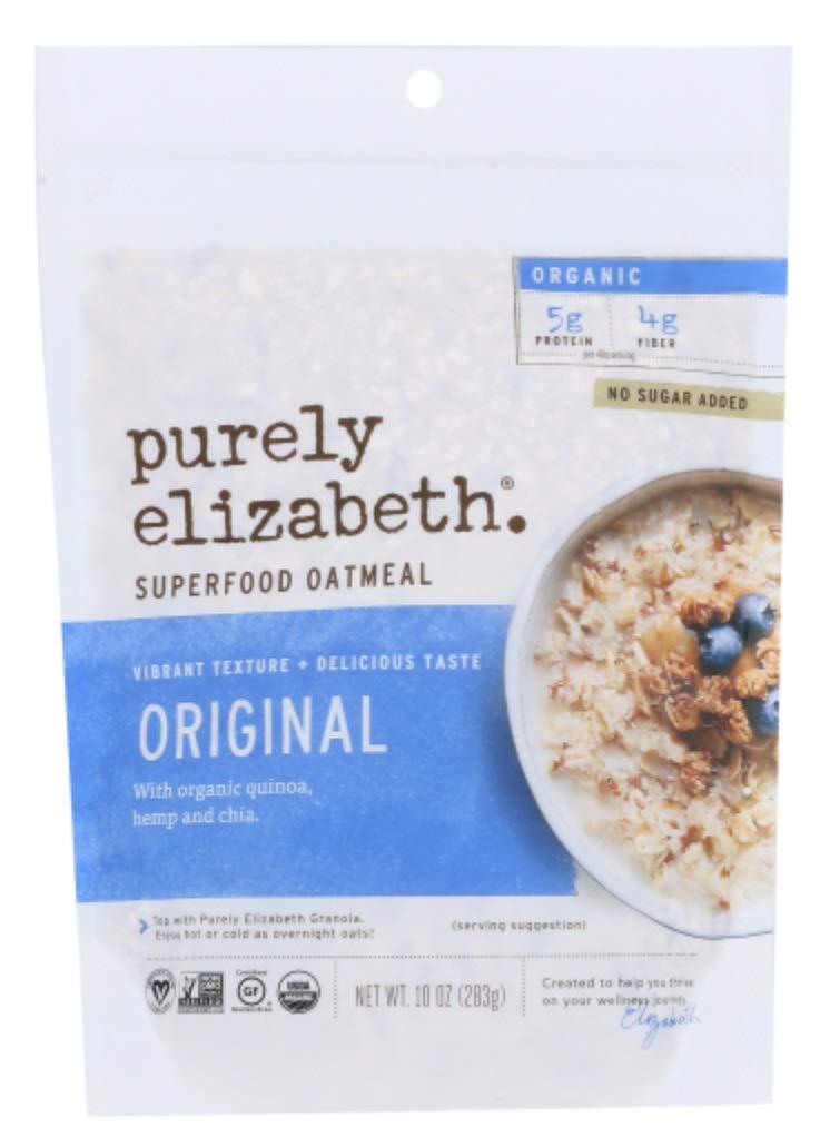 Purely Elizabeth Organic Superfood Oatmeal Original, 10 oz (Pack of 3)