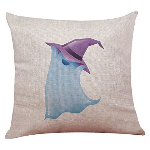 Allywit Halloween Pillow Box Linen Sofa Funny Ghost Pad Cushions Home Decoration (Funny Halloween Office Decorations)