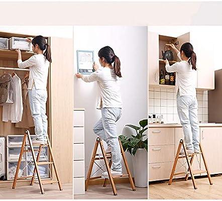 XB-ZDT Taburete para Escalones, Escalera De Casa Estrecha Banco De Aluminio Escalera Plegable En Espiga Escalera Ascendente En Forma De Flor De Heces (Size : A): Amazon.es: Hogar