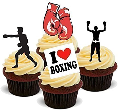 Surprising Amazon Com Baking Bling Novelty Boxing Mix Birthday Sport Birthday Cards Printable Inklcafe Filternl