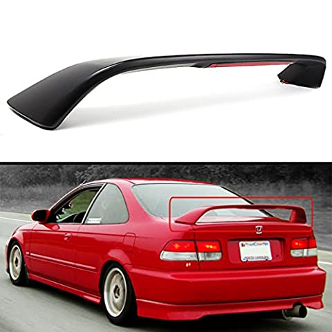 FOR 1996-2000 HONDA CIVIC 2DR COUPE EM EJ Si STYLE TRUNK SPOILER WING W/ RED LED 3RD BRAKE LIGHT - 2000 Honda Civic Trunk