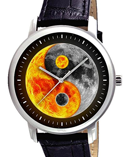 Amazoncom Symbolic Yin Yang Fire And Ice Large 40 Mm Unisex Solid