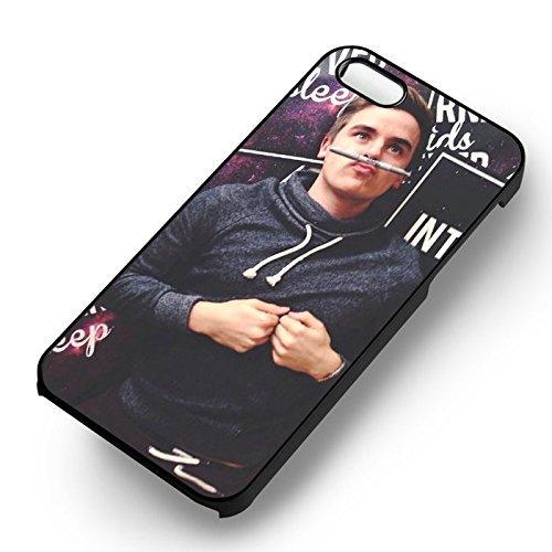 Funny Boy Thinking pour Coque Iphone 6 et Coque Iphone 6s Case (Noir Boîtier en plastique dur) A0G5GI