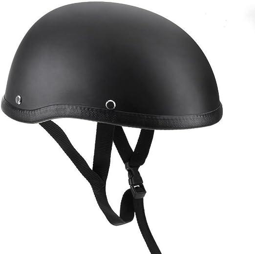 Dumb black Heinmo Motorcycle Retro Helmet Motocross Half Open Face Helmet for Harley Cruiser