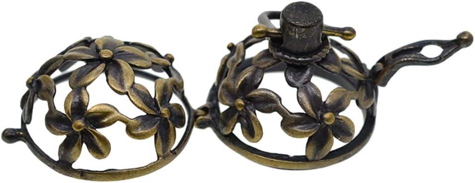 P Prettyia Colgante Collar Antigua con Lindos Flores Accsesorios de Fabricación de Joyerías