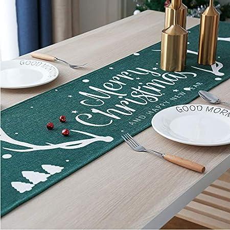 ZXF Mesa de Navidad de Estilo Plano de Mesa Mantel de algodón y ...