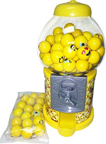 Emoji Gumball Machine 8 5  Tall With Emoji Gumballs By Candymachines Gumball Banks