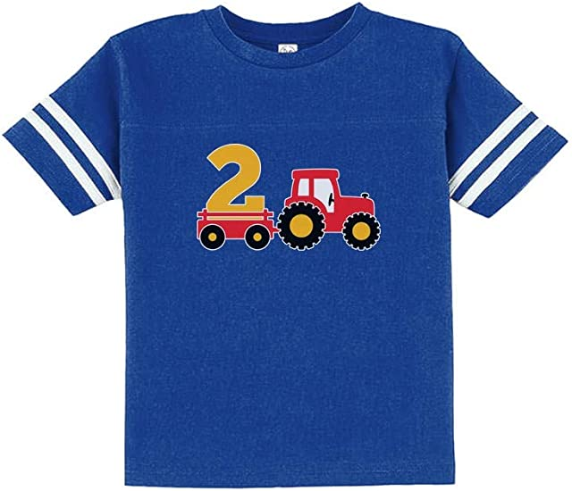 4th Birthday Tractor Construction Party Toddler Kids T-Shirt 4 Years Old Gift