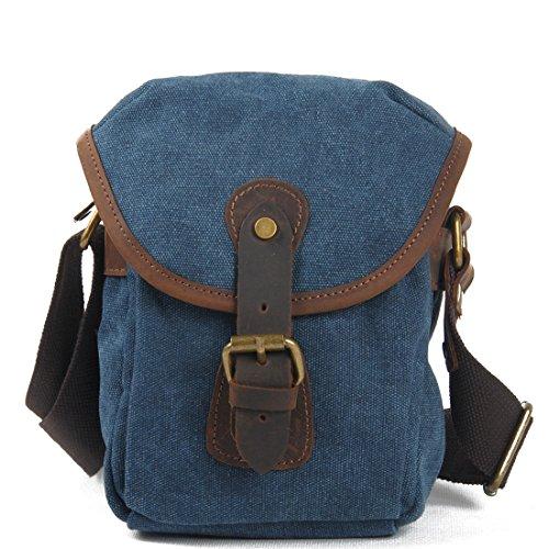 SimpleBase - Bolso al hombro para hombre Azul