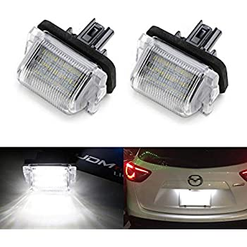 2-Pieces 6000K Diamond White VIPMOTOZ Full LED License Plate Light Lamp Assembly Replacement For Hyundai Genesis Coupe Volester Kia Soul EV