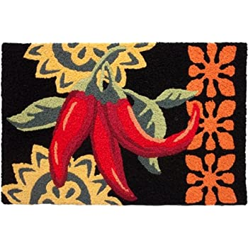 Good Hot And Spicy Cayenne Peppers Jellybean Accent Area Rug