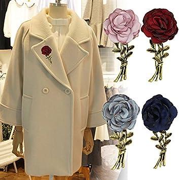 : Rose pearl brooch pin female coat igan sweater