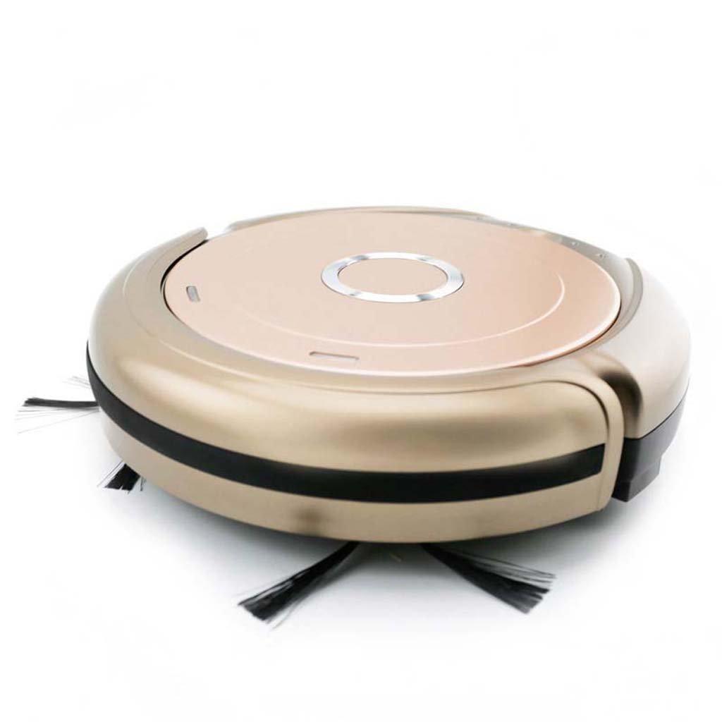 J&A Robot Aspirador, 7cm Slim Home Sweeping Robot con 500Pa Strong Vacuum Suction, Manipulación con un Solo botón para Low-Pile Carpet, ...