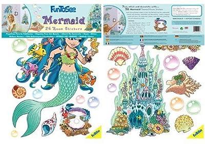 Funtosee Themed Room Decals Mermaid by FunToSee