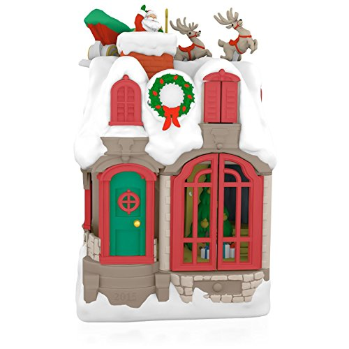 Up On The Housetop Santa Musical Ornament 2015 Hallmark