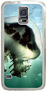 Mauve-Stinger-Jellyfish-Australia Cases for Samsung Galaxy S5 I9600 with Transparent Skin