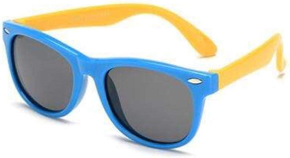 Boolavard Flexible Kids Sunglasses Polarized Child Baby Safety Coating Sun Glasses UV400 Eyewear Blue Yellow