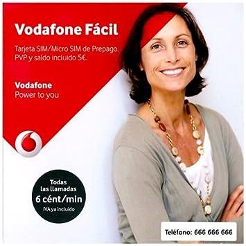 Vodafone - Tarjeta prepago facil 5 euros: Amazon.es: Electrónica