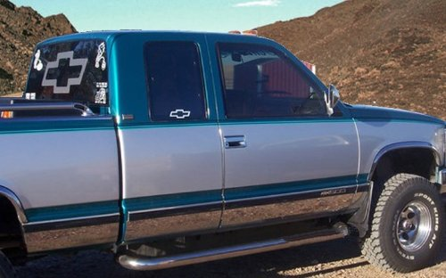 Made in USA! Works with 1988-1998 Chevy Pickup Reg Cab Short Bed W/O Fender Flare Rocker Panel 5.5