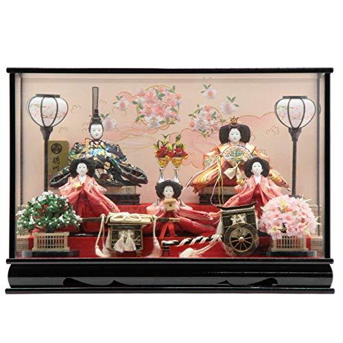 雛人形 ケース入り五人飾り[幅69cm][it-1093] 雛祭り   B07JH9Q9K8