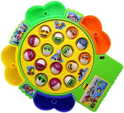 Eléctrica juguetes musicales Pesca Pesca Juego de mesa para Niños Niñas con 15 Peces 4 cañas de pescar, color entrega al azar (peces pequeños): Amazon.es: Juguetes y juegos