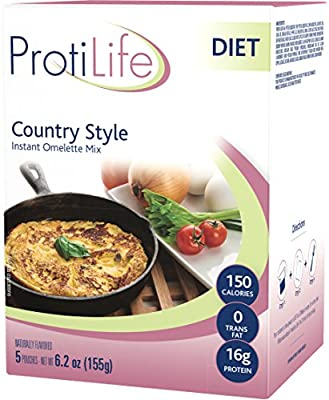 ProtiLife - Naturally Flavored Instant Omelette Mix, 5 Pouches - Country Style