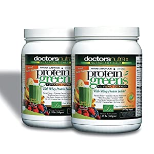 (Pack of 2) PH50 Protein Greens Drink with Certified Organic Ingredients, 1.19 lbs (540 grams) 50+ First Quality Superfoods + Probiotics, Digestive Enzymes, Amazing Natural Vanilla Flavor Powder