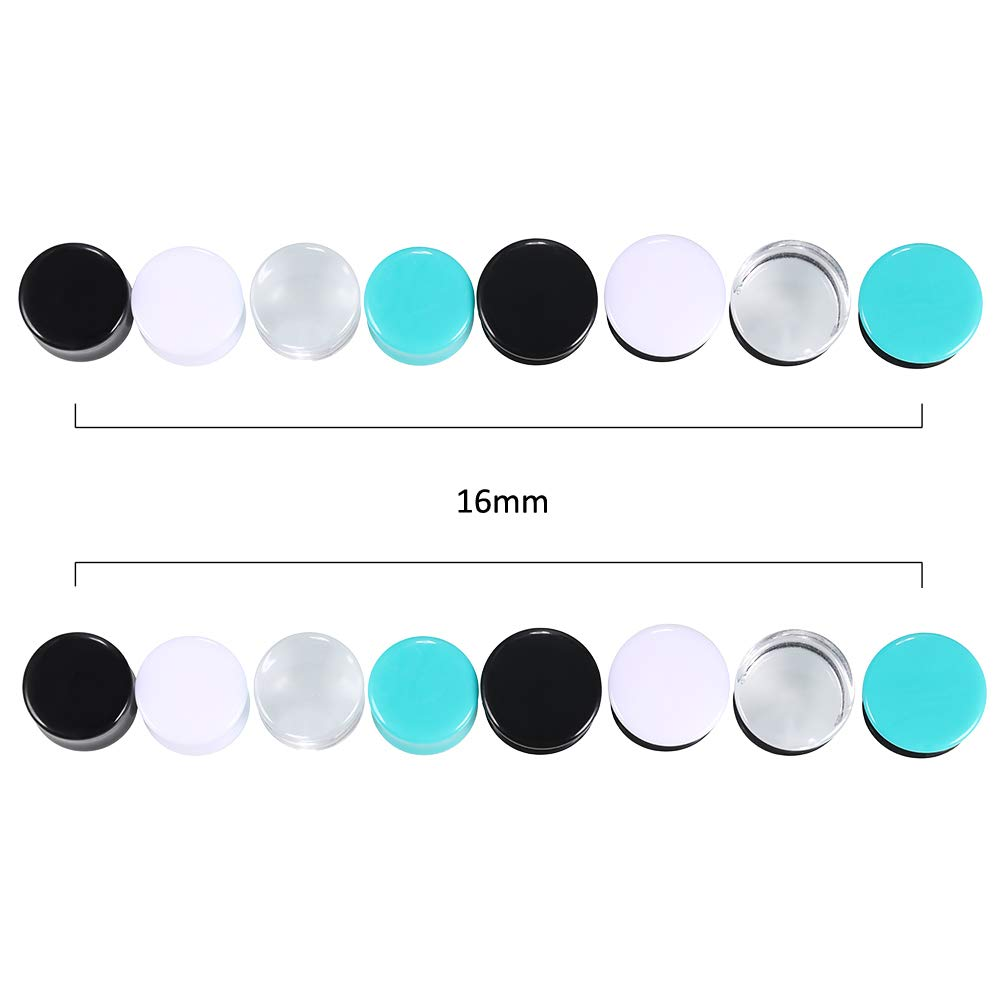 Jusway Gauges for Ears Acrylic Saddle Ear Plugs and Tunnels Ear Stretchers Expander Double Flared Tunnels Plugs with O-Ring Ear Piercings Jewelry 6-16MM 16PCS