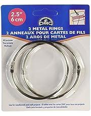 DMC 6110 Metal Rings, 2-1/2-Inch