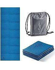 Avoalre Yogamat Opvouwbaar Antislip Draagbaar 60 cm x 173 cm x 5 cm Milieuvriendelijke PVC Yogamat Dikke Fitness Training Pilates Gym Oefenmat Workout voor Dames Heren Kinderen