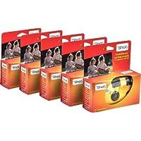 TopShot Einwegkamera mit 27 Fotos + eingebautem Blitz Einwegkamera Paket mit 5 Kameras
