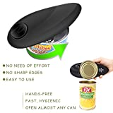 Electric Can Opener, Restaurant can opener, Smooth Edge Automatic Electric Can Opener! Chef's Best Choice (White) (Upgrade Black)