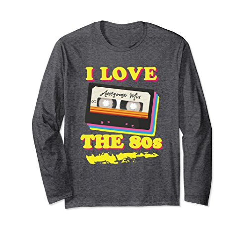 Cassette Tape Halloween Costume (Unisex Funny 1980s Mix Tape Costume Halloween Party Long Sleeve Medium Dark Heather)