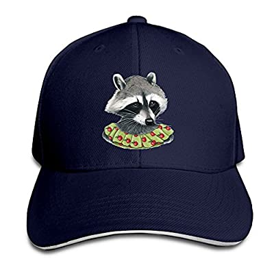 Fenme Raccoon Animals Women Unisex Sandwich Caps Cool Snapback Hats Casual Trucker Hats Graphic Snapback Cap