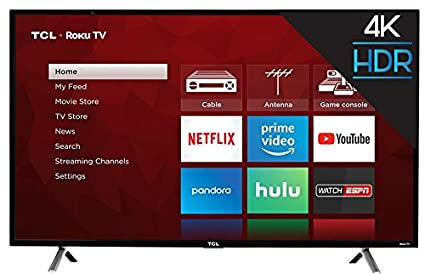 Amazoncom Tcl 43s405 43 Inch 4k Ultra Hd Roku Smart Led Tv 2017