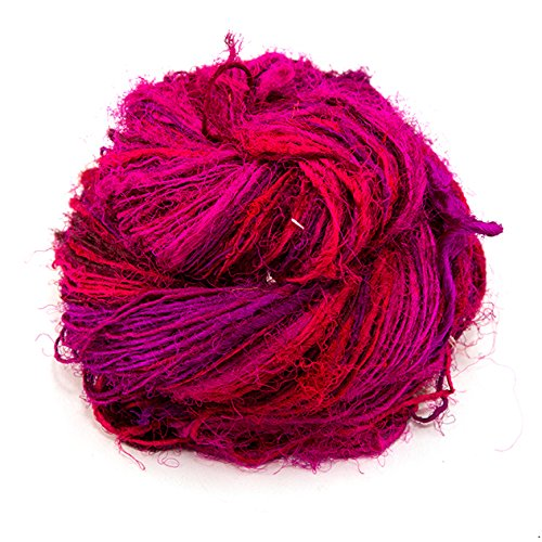 Darn Good Yarn, Gumball Sport Weight Silk Yarn, 100 Yards, Magenta, 100 Grams, 1 Skein