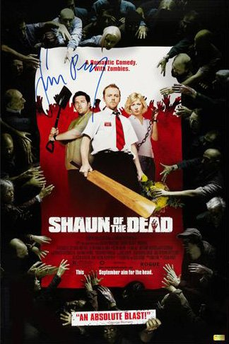Shaun of the Dead Limited Edition Poster Autographed / Hand-Signed by Simon Pegg by PEGG,SIMON