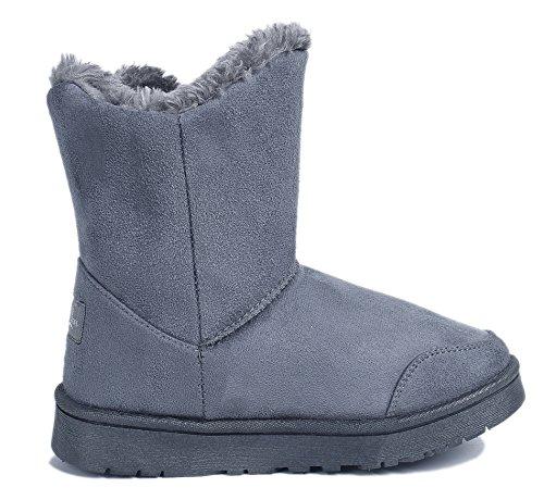 Doubl Femmes Ageemi Seul Bottes Neige Shoes Bouton CvwqwxpY