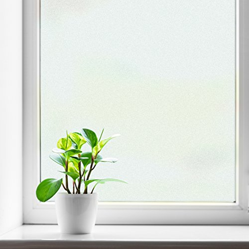 fancy-fix Window Film for Privacy Static Cling Decorative Frosted Glass Films for Bathroom Kitchen Office (35.4in x 13ft)