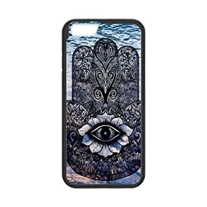 Classic Style Custom Silicone Hard Rubber Protector Case for iPhone6(4.7inch) - Evil Eye Hamsa