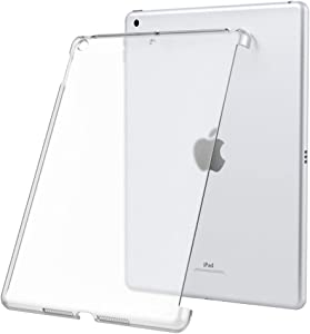 Dadanism iPad 8th Generation Case 2020/iPad 7th Generation Case 2019 Compatible with Official Smart Keyboard,Frosted Transparent Slim Hard PC Back Cover Fit iPad 10.2 inch 2020/2019 - Clear
