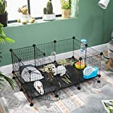 SONGMICS Pet Playpen Includes Zip Ties, Upgrade