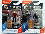 Mega Construx Heroes Series 1 Star Trek: The Next Generation Captain Picard and Borg Drone Bundle