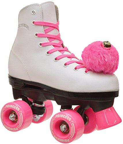 Girls Epic Pink Princess Indoor Outdoor Quad Roller Skates