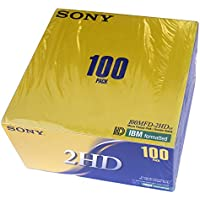 SONY 100 High-Density Floppy Disks PC