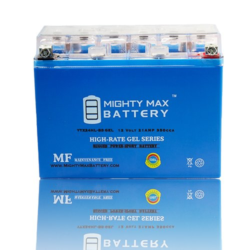 Mighty Max Battery YTX24HL-BS 12V 21AH Gel Battery for Arctic Cat T660 Turbo '04-07 Brand Product