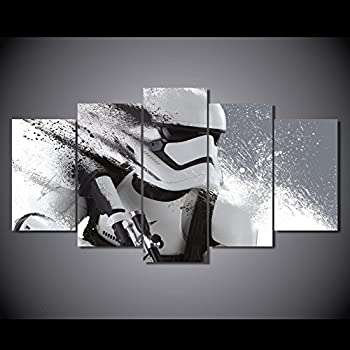 Stormtrooper star wars print poster canvas 5 pieces