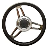 Uflex Boat Steering Wheel   Premier Morosini 13 3/4 Inch Black 3/4 Shaft