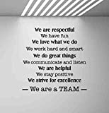 We are A Team Wall Decal Office Poster Teamwork Quote Sign Motivational Gift Inspirational Lettering Word Cloud Vinyl Sticker Print Business Wall Art Room Design Decor Poster Custom Mural 982