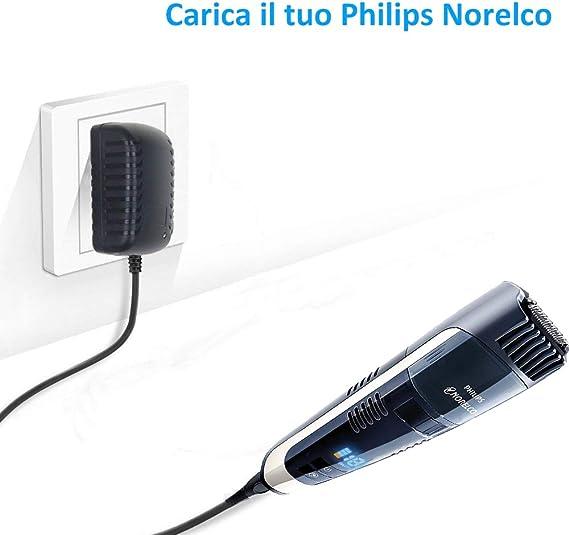 Cargador de 15V 360mA Sustitución Cargador de afeitadora HQ8505 ...
